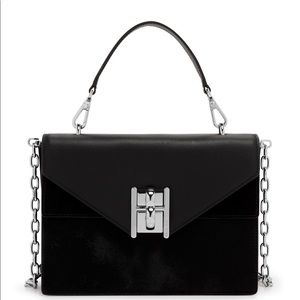 Henri Bendel top handle calf hair Plaza satchel